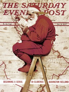 Norman Rockwell - TSEP de 1939-12-16 - Santa at the Map