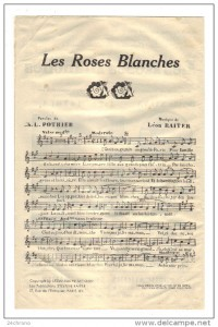 Les roses blanches - Partition